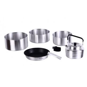 Набор туристической посуды KingCamp Camper 4(KP3903) (silver)