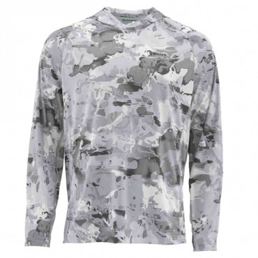 Блуза Simms SolarFlex Hoody Print Cloud Camo Grey XXXL