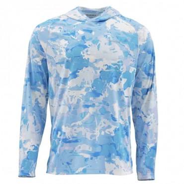 Блуза Simms SolarFlex Hoody Print Cloud Camo Blue M