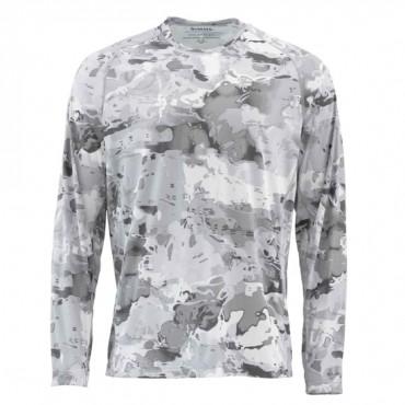 Блуза Simms SolarFlex Crewneck Prints Cloud Camo Grey XXXL