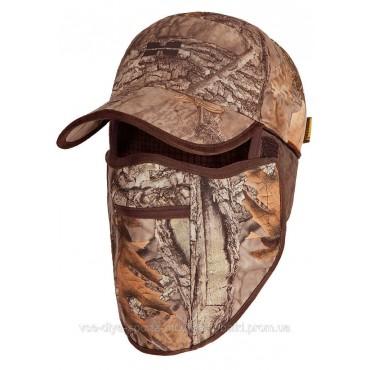 Водонепроницаемая зимняя кепка с флисовой маской фотокамуфляж 3DX