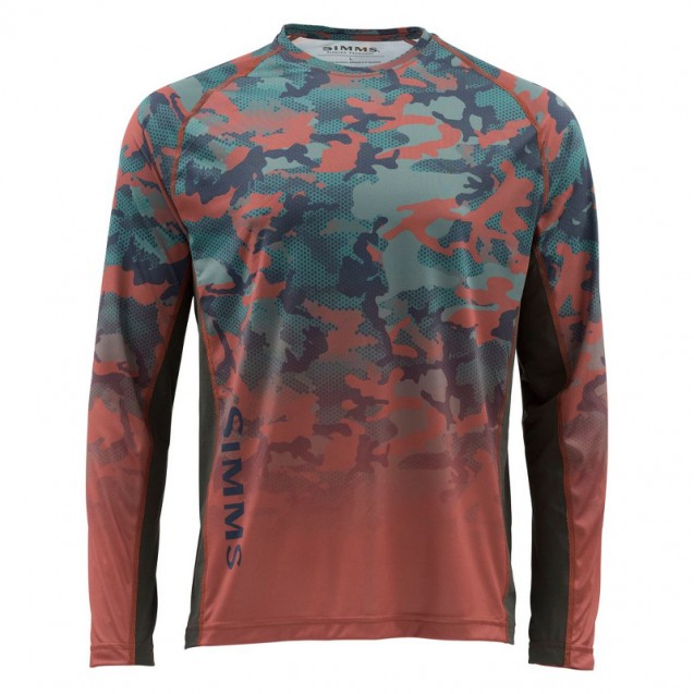 Блуза Simms Challenger Solar Tech Jersey Hex Flo Camo Rusty Red S