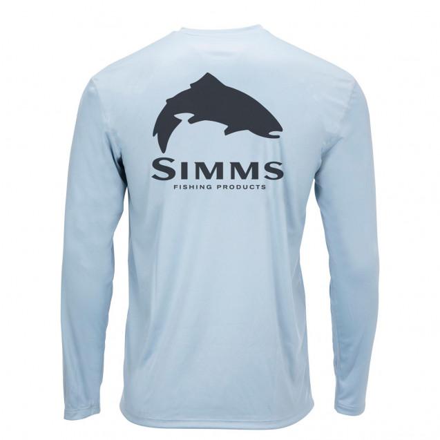 Блуза Simms Solar Tech Tee Musky Face Steel Blue L