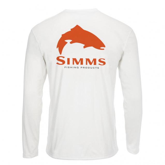 Блуза Simms Solar Tech Tee Trout Logo White M