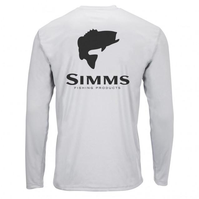 Блуза Simms Solar Tech Tee Bass Logo Sterling XL
