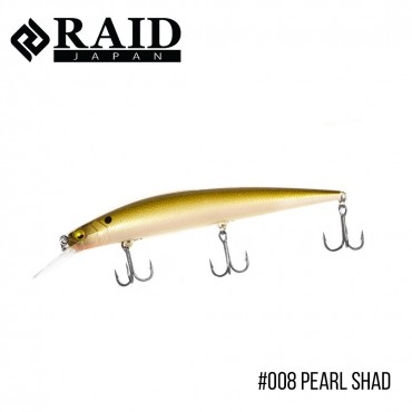 Воблер Raid Level Minnow Plus (125mm, 14g)  (008 Pearl Shad)