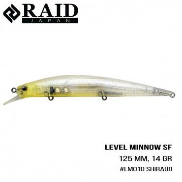 Воблер Raid Level Minnow (125mm, 14g)  (010 Sirauo)