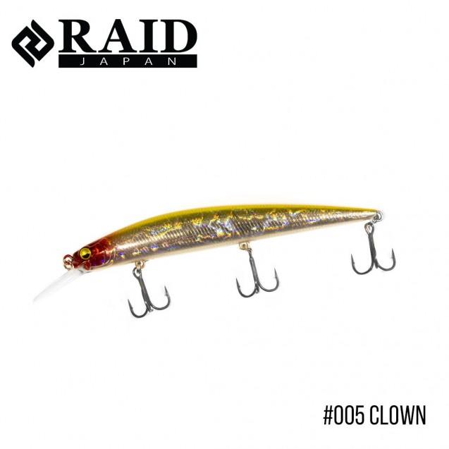 Воблер Raid Level Minnow Plus (125mm, 14g)  (005 Clown)