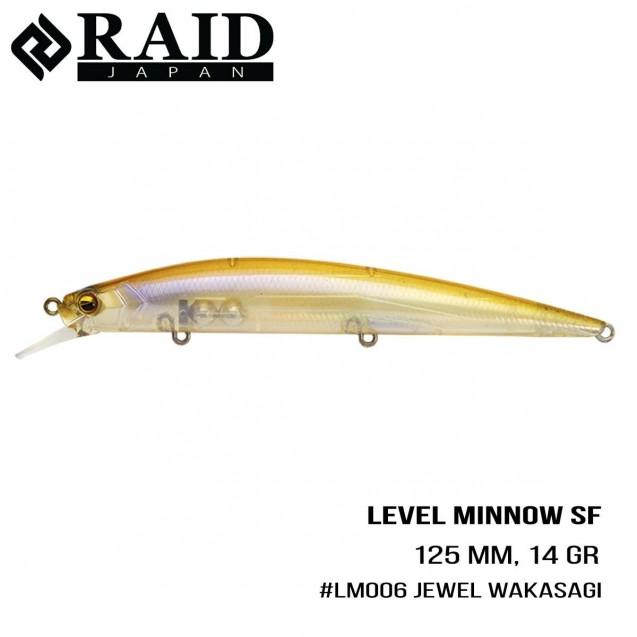 Воблер Raid Level Minnow (125mm, 14g)  (006 Jewel Wakasagi)