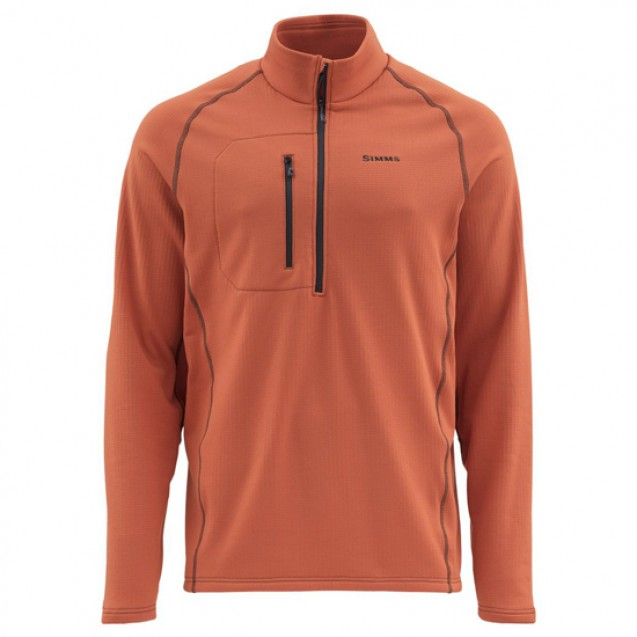 Блуза Simms Fleece Midlayer Top Simms Orange XL