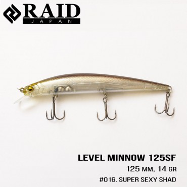 Воблер Raid Level Minnow (125mm, 14g)  (016 Super Sexy Shad )