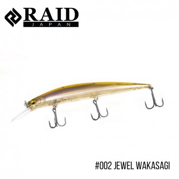 Воблер Raid Level Minnow Plus (125mm, 14g)  (002 Jewel Wakasagi)