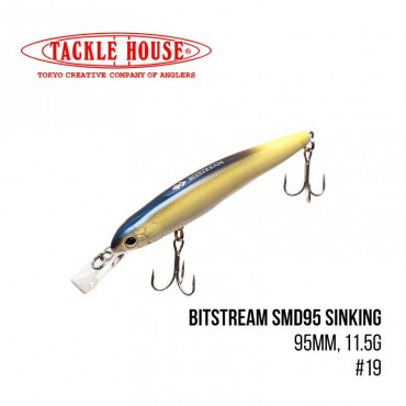 Воблер Tackle House Bitstream SMD95 Sinking (95mm, 11.5g,) (19)